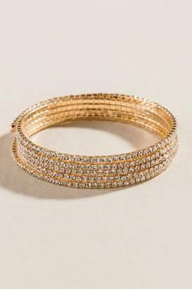 francesca's Lola Crystal Coil Bracelet - Crystal