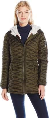 Steve Madden Women's Quilted Glacier Shield Coat