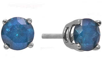 JCPenney FINE JEWELRY 1/2 CT. T.W. Color-Enhanced Blue Diamond Stud Earrings