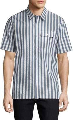 Matiere Men's Branson Striped Sportshirt