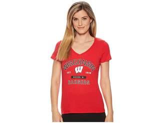 Champion College Wisconsin Badgers University V-Neck Tee