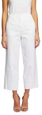 CeCe Meadow Monet High-Rise Cotton Blend Wide-Leg Pants