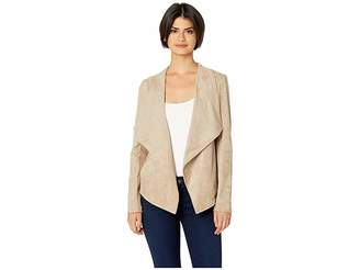 BB Dakota Wade Faux Suede Drape Jacket