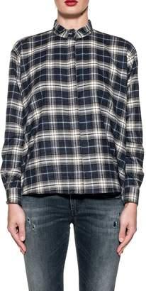 Xacus Blue/white Rita Checked Shirt