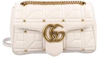 Gucci GG Studded Matelassé Medium Marmont Shoulder Bag