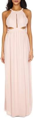 TFNC Evanthe Chiffon Halter Maxi Dress
