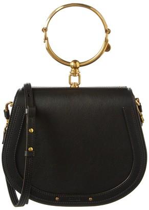 Chloé Nile Medium Leather & Suede Bracelet Bag