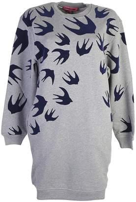 McQ Grey Swallows Print Dress
