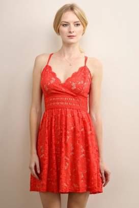 Soieblu Red Lace Dress