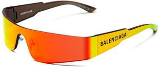 Balenciaga Unisex Wraparound Shield Sunglasses, 185mm