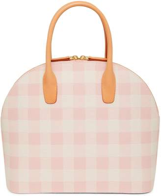 Mansur Gavriel Checker Top Handle Rounded Bag - Coral