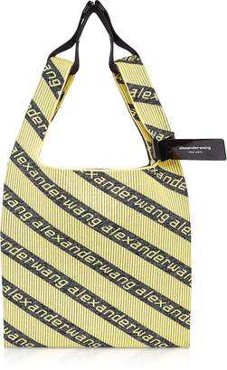 Alexander Wang Kint Jacquard Logo Soft Striped Canvas Shopper