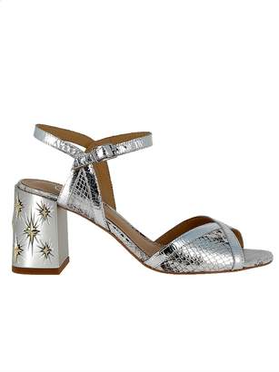 Ash Silver Leather Sandals