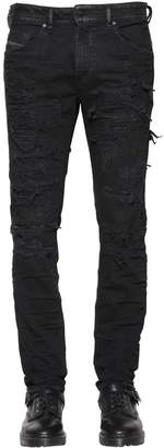 Diesel 18cm Thommer Leather Lining Denim Jeans