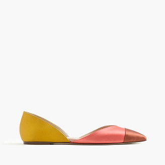 Sadie flats in colorblock satin $128 thestylecure.com