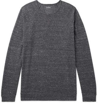 Paul Smith Mélange Cotton-blend Jersey Sweatshirt
