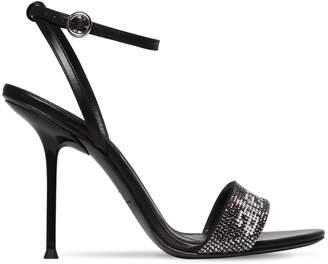 Alexander Wang 105mm Jane Embellished Leather Sandals