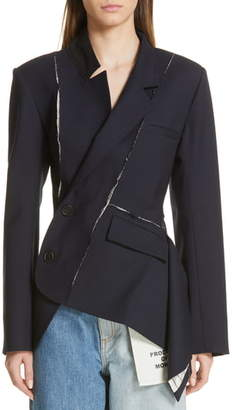 Monse Deconstructed Stretch Wool Blazer