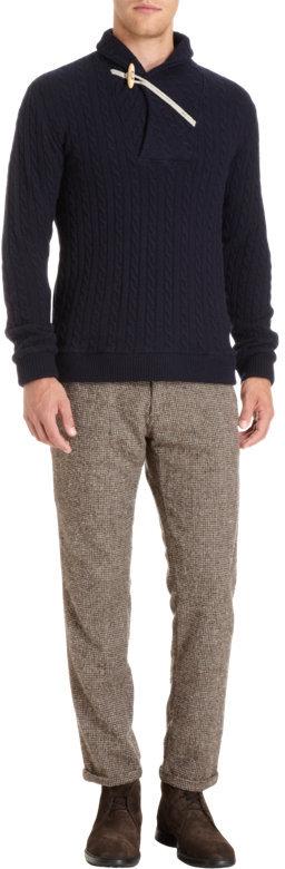 Barena Venezia Toggle Shawl Collar Pullover