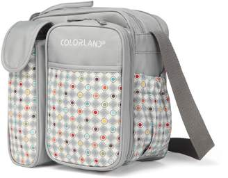 Colorland COLORLAND Annabel Petite Baby Changing Bag with Themal Bottle Pocket Gray Gamut Pattern