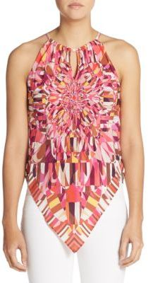 Chloe Silk Abstract Keyhole Top $188 thestylecure.com