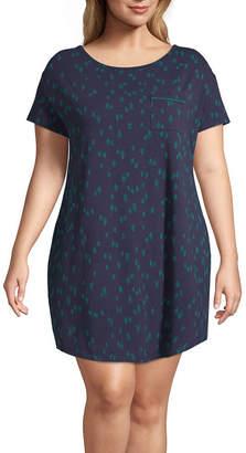 Liz Claiborne Holiday Knit Nightshirt-Plus