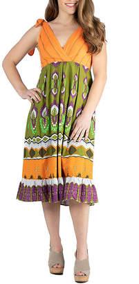 24/7 Comfort Apparel Midi Halter Summer Dress