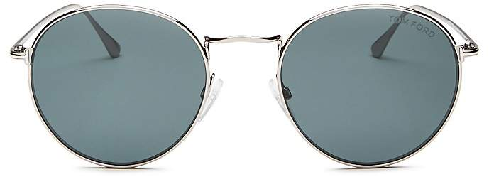 Tom Ford Men's Round Sunglasses, 53mm