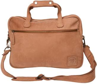 "MAHI Leather - Compact Leather Lightweight Laptop/Work Case/Satchel Bag With 13"" Capacity in Vintage Cognac"