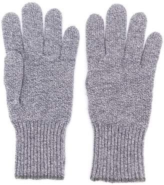 Brunello Cucinelli contrast trim gloves
