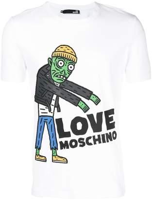 Love Moschino logo graphic print T-shirt