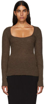 Jacquemus Brown La Maille Dao Sweater