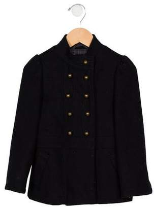 Little Marc Jacobs Girls' Wool Double-Breasted Coat
