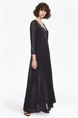 French Connenction Tessie Drape V Neck Maxi Dress