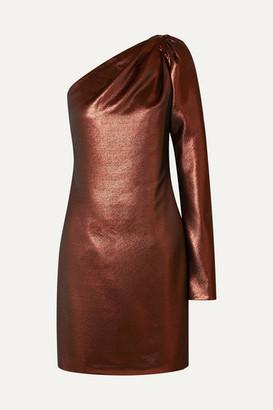 Victoria Victoria Beckham Victoria, Victoria Beckham - One-shoulder Lurex Mini Dress - Copper