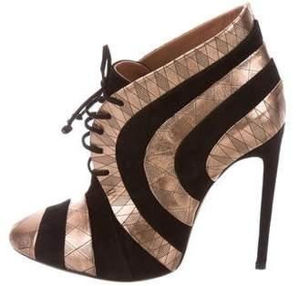 Alaia Metallic Striped Booties w/ Tags
