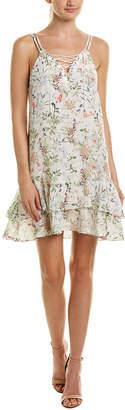 The Kooples Lace-Up Silk Shift Dress