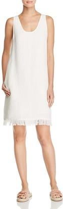 Theory Oekel Linen Fringe Shift Dress $345 thestylecure.com