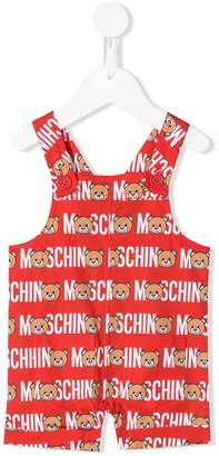 Moschino Kids teddy bear overalls