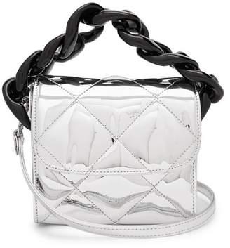 Marques Almeida MARQUES'ALMEIDA Oversized curb-chain quilted shoulder bag