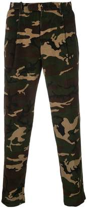 Moncler camouflage print trousers