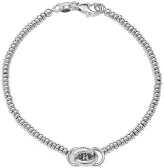Italian Silver Beaded Knotted Bracelet, 5.8g