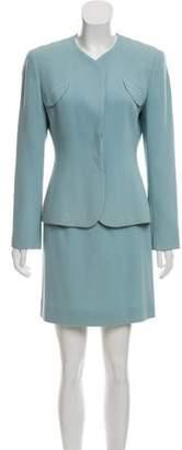 Armani Collezioni Virgin Wool Skirt Suit