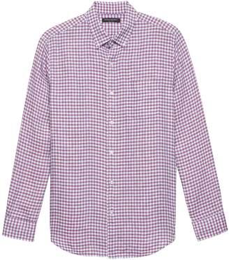 Banana Republic Camden Standard-Fit Gingham Linen Shirt