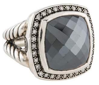 David Yurman Hematine & Diamond Albion Ring