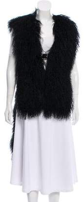 Givenchy Mongolian Lamb High-Low Vest