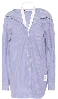 Alexander Wang Striped cotton poplin shirt