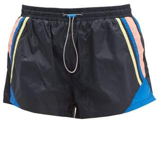 The Upside Magic Colour Blocked Technical Shorts - Womens - Navy Multi