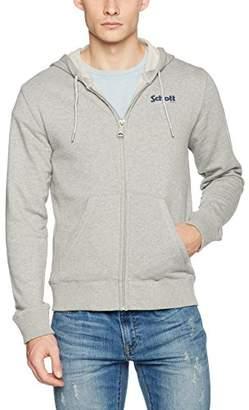 Schott NYC Men's SWZIP Hoodie, Grey H.Grey, XXX-Large