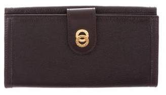 Bvlgari Leather Continental Wallet